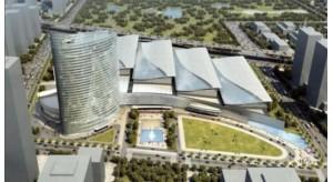 济南西部会展中心结构施工预计八月底完成