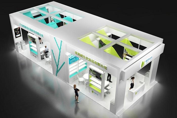 博然堂生物科技展台设计