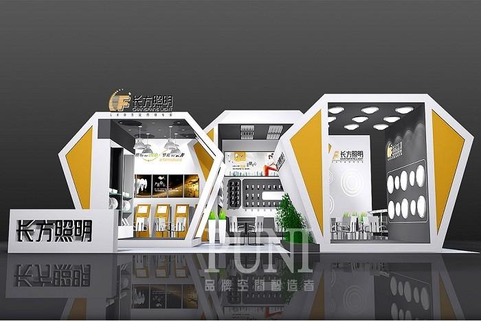长方照明展台设计